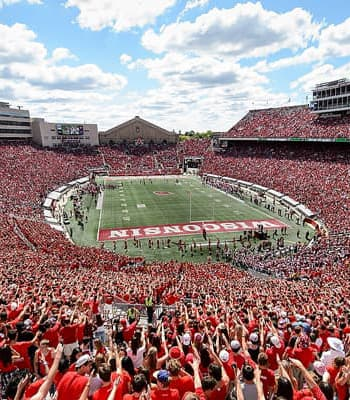 Camp Randall Stadium on a football game day